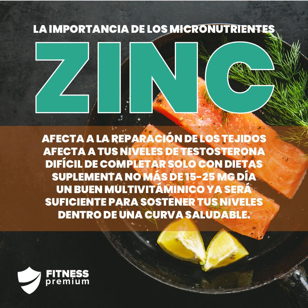 En este momento estás viendo Zinc y fitness. La importancia de los micronutrientes.